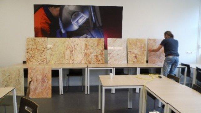 Jaarlijkse vakwedstrijd studieclub schilders gejureerd bij for Interieur opleiding mbo