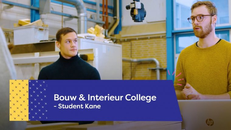 YouTube video - Student Kane over de richting Hout op het Bouw & Interieur College