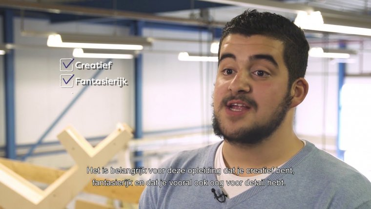 YouTube video - Opleiding Ondernemend en ontwerpend meubelmaker